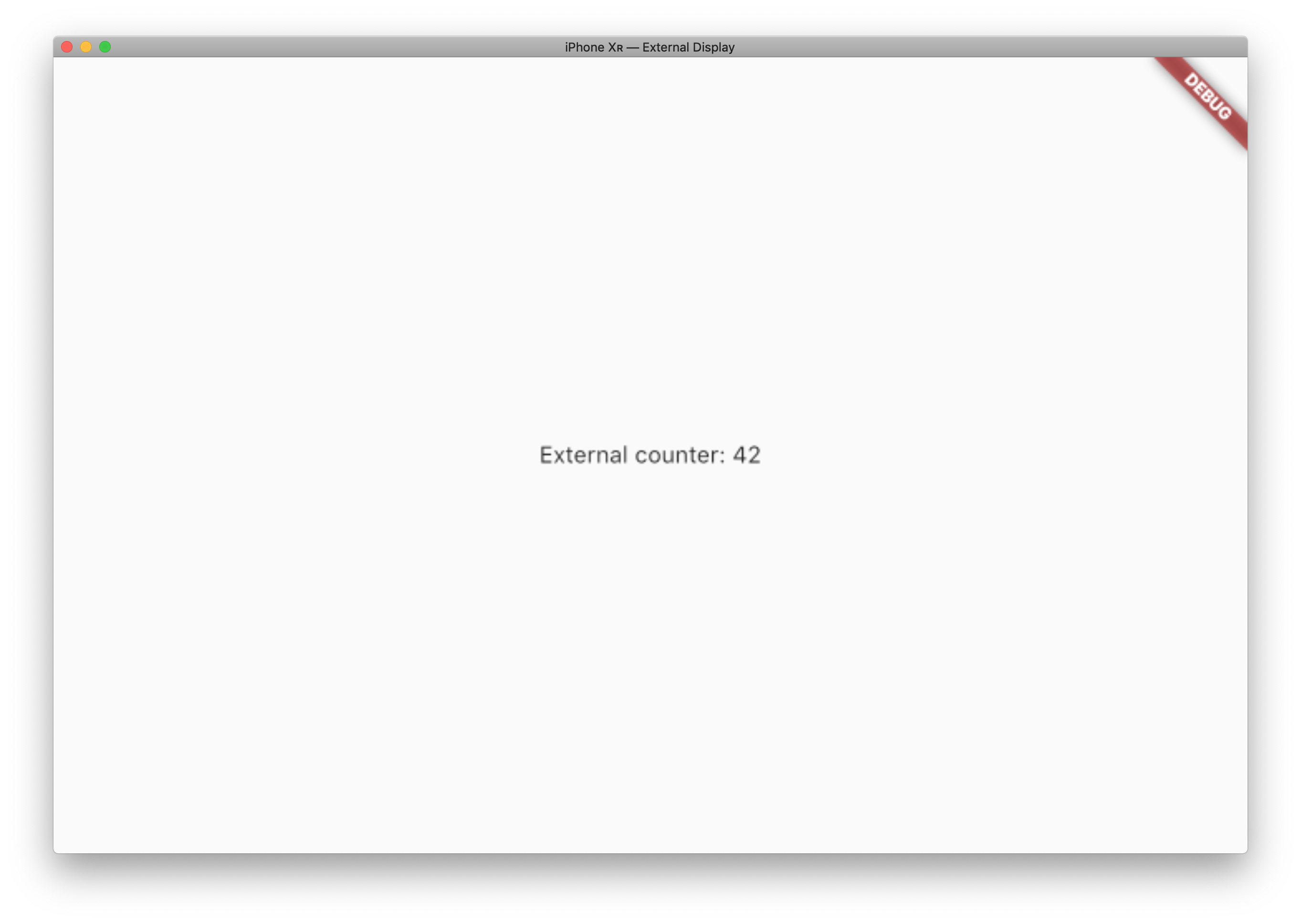 External display with flutter / iOS part 1 – OQU's